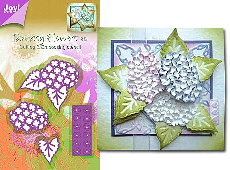 Joy crafts fantasy flowers cutting and embossing stencil for Joy craft flower dies